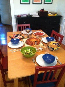 The first family dinner of 5772